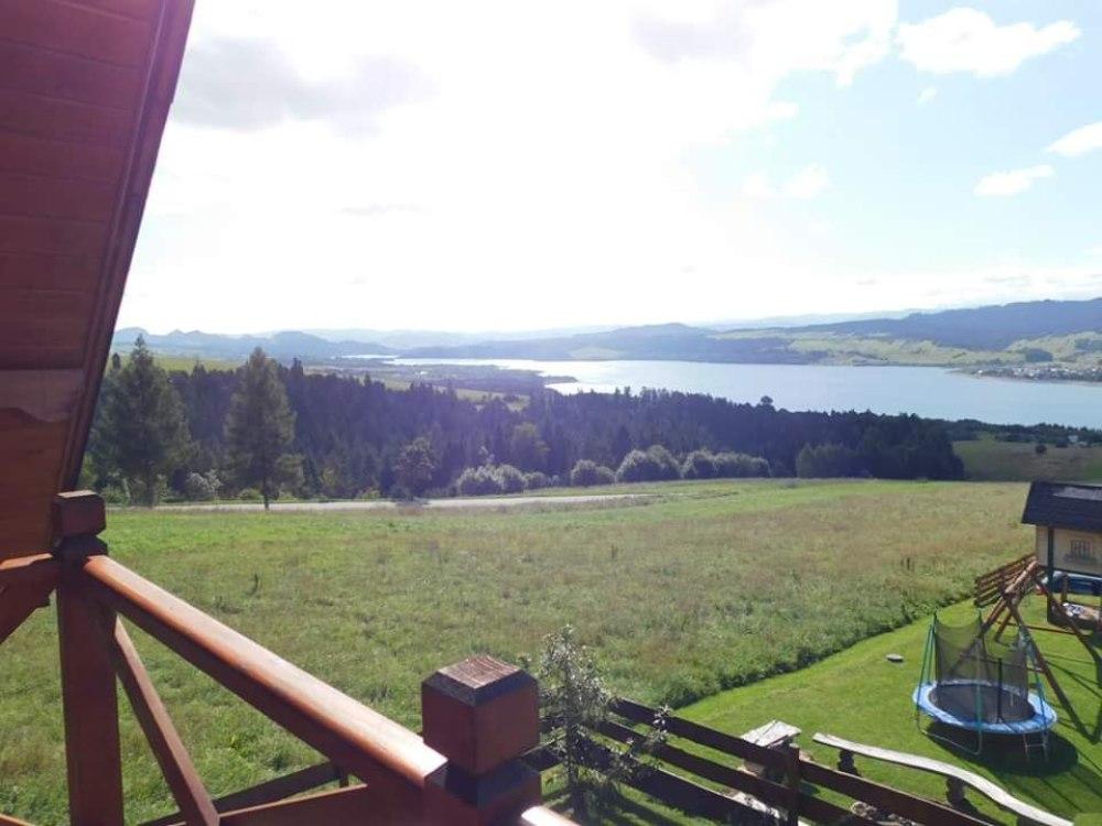 Widok z balkonu domku nr 1